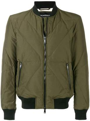 Emporio Armani feather down bomber jacket