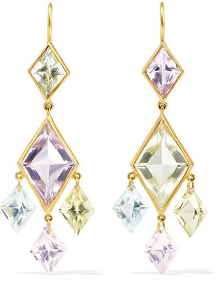 Marie Helene De Taillac Marie-Hélène de Taillac - 22-karat Gold Multi-stone Earrings