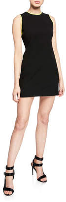 Alice + Olivia Colin Colorblock Crewneck Sleeveless Dress