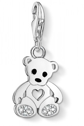 e7a57abb780 Thomas Sabo Jewellery Ladies Sterling Silver Charm Club Teddy Bear Charm  1119-041-14