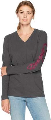 Carhartt Women's Wellton Graphic Logo Long Sleeve V-Neck T-Shirt