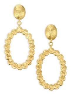 Gurhan 22K Gold Pebble Drop Hoop Earrings