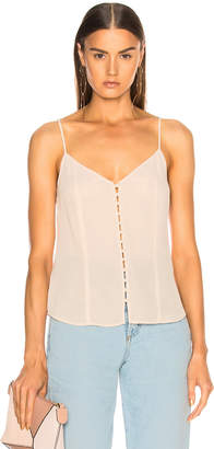 L'Agence Emiliana Button Up Tank in Quartz | FWRD