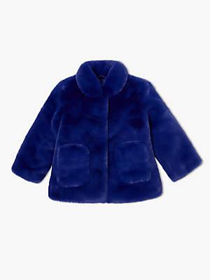Girls Faux Fur Coat Shopstyle Uk