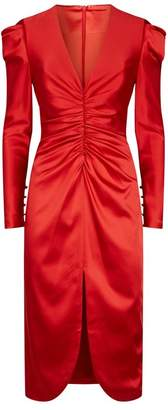 Jonathan Simkhai Ruched Satin Dress
