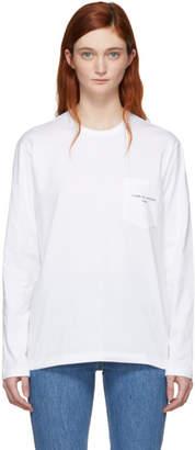 Comme des Garcons White Logo Long Sleeve T-Shirt