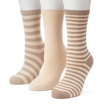 Sonoma Goods For Life Women's SONOMA Goods for Life 3-pk. Marled Stripe Crew Socks