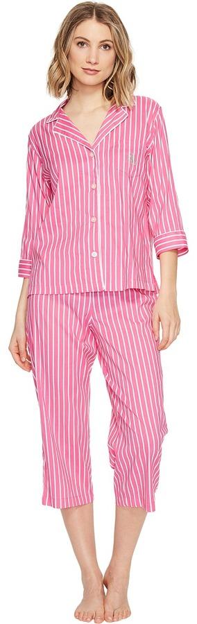 Lauren Ralph LaurenLAUREN Ralph Lauren - Cotton Rayon Lawn 3/4 Sleeve Pajama Women's Pajama Sets