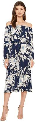 Maggy London Off the Shoulder Peasant Sleeve Dress Women's Dress