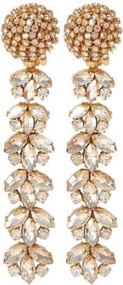 Oscar De La Renta Tiered Crystal Drop Earrings