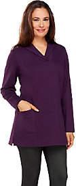 Denim & Co. Active Knit Long Sleeve ShawlCollar Tunic