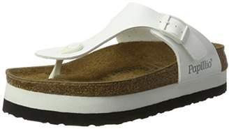 Papillio Women's Gizeh Birko-Flor Plateau Flip Flops, White