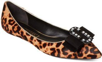 Marc Jacobs Brown Interlock Cheetah Flats