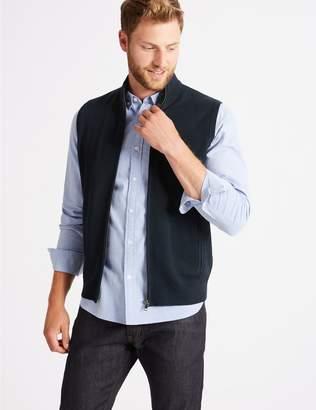 Marks and Spencer Merino Wool Blend Textured Gilet