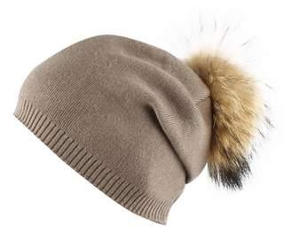 0bd8fcaa6e7 Aivtalk Women s Winter Warm Wool Lining Knit Lightweight Ski Cap Ladies Hats