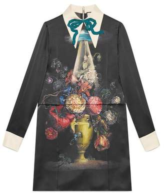 Gucci Space flowers print satin dress