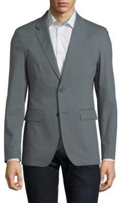 Solid Homme Stretch Fitted Blazer