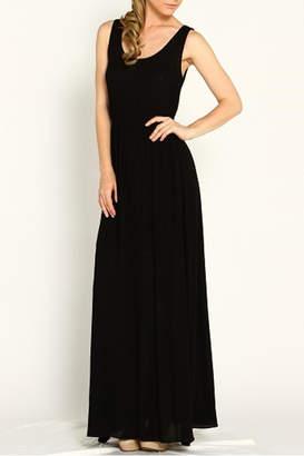 Marineblu Black Sleeveless Dress
