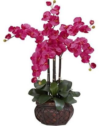 Generic Phalaenopsis with Decorative Vase Silk Flower Arrangement, Beauty