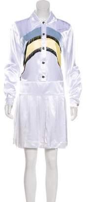 Miu Miu Lace-Trimmed Satin Dress
