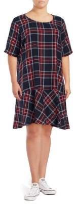 Junarose Plus Maika Plaid Knee-Length Cotton Dress