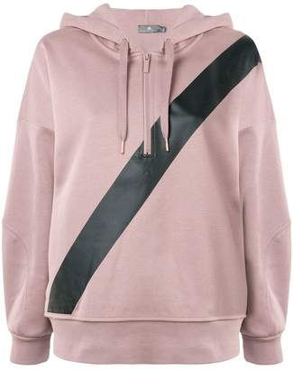 adidas by Stella McCartney diagonal stripe hoodie