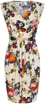 Yumi London Floral Print Belted Dress