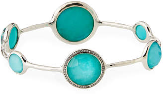 dd5bc840a16 Ippolita Stella Bangle in Turquoise Doublet with Diamonds
