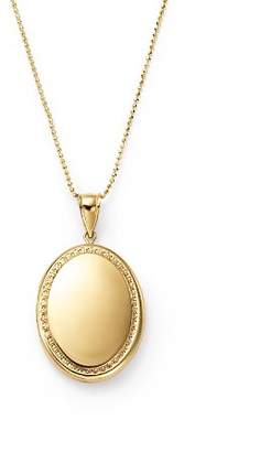 """Bloomingdale's 14K Yellow Gold Oval Locket Necklace, 22"""" - 100% Exclusive"""