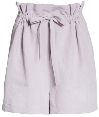 Rebecca Taylor Slub Linen Blend Shorts