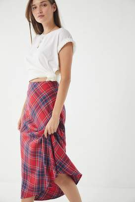 Urban Outfitters Court Plaid Midi Skirt