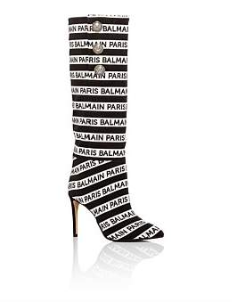 Balmain Boot Jane 95-Fabric Logo Boot