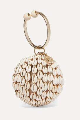 Rosantica Lira Gold-tone, Bead And Shell Tote - White