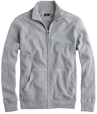 J.Crew Cotton-cashmere zip sweater-jacket
