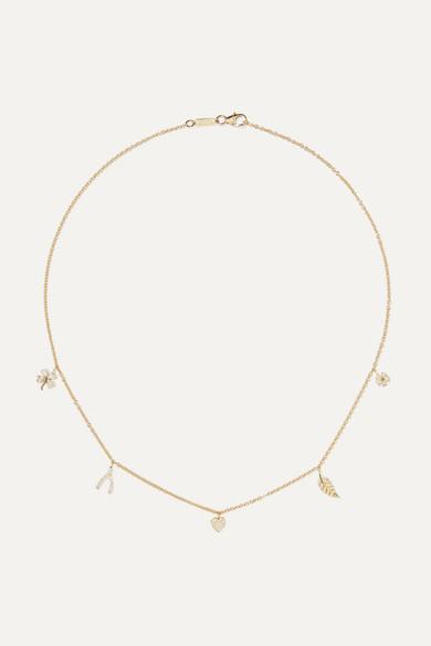 Jennifer Meyer - Mini Charm 18-karat Gold Diamond Necklace