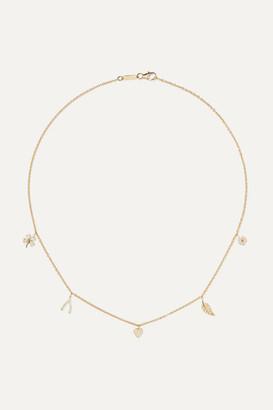 Jennifer Meyer Mini Charm 18-karat Gold Diamond Necklace