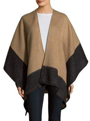 Rag & Bone Double-Faced Merino Wool Reversible Poncho