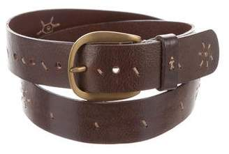 Henry Beguelin Distressed Buckle Belt