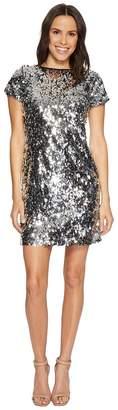 Vince Camuto Short Sleeve All Over Sequin Dress Women's Dress