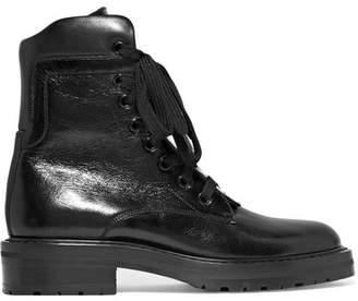 Saint Laurent William Glossed-leather Ankle Boots - Black