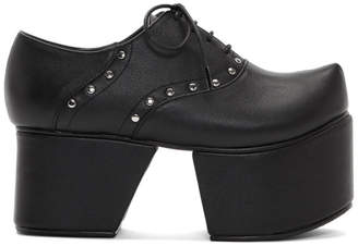 Flat Apartment Black Separated Platform Oxfords