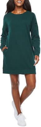 Xersion Long Sleeve Snap Shoulder Dresses