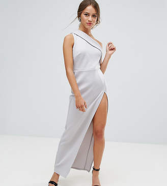 Asos One Shoulder Maxi Dress with Exposed Zip