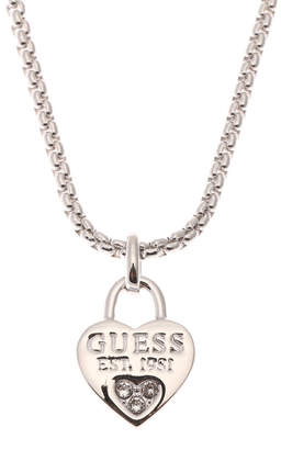 GUESS (ゲス) - ゲス GUESS 1981 HEART NECKLACE (SILVER)