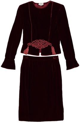 Valentino Burgundy Velvet Jackets