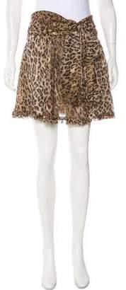 Dolce & Gabbana Silk Printed Skirt w/ Tags