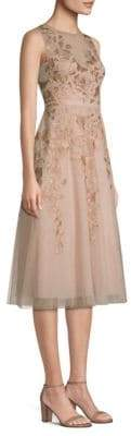BCBGMAXAZRIA Rose Gold Tulle Dress