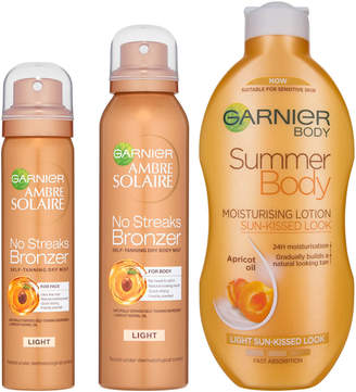 Ambre Solaire Garnier Summer Body and No Streaks Bronzer Self Tan Kit
