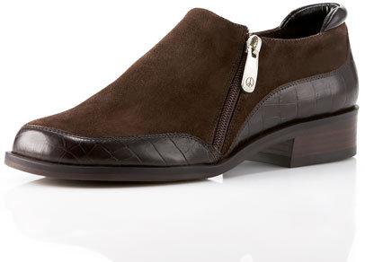 Donald J Pliner Suede-Leather Flat Boot, Black