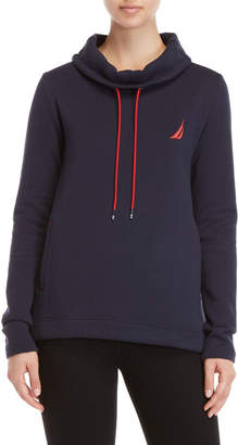 Nautica Funnel Neck Fleece Sweatshirt